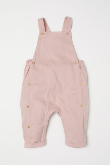 Cotton dungarees - Powder pink -  | H&M