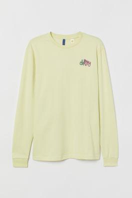 969aa71ba9 T-shirt with a deep neckline. £4.00 £6.99. Black · Long-sleeved jersey top