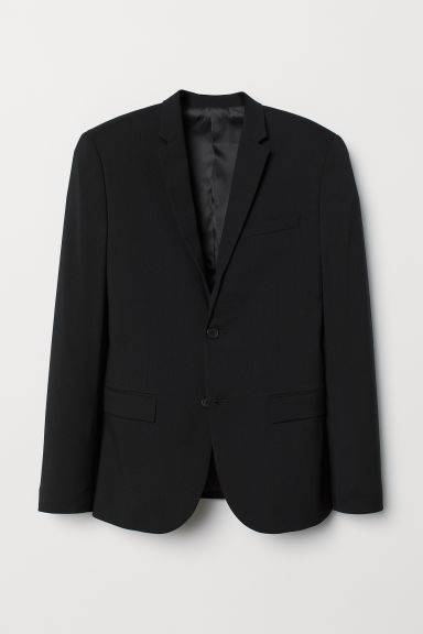 Jacket Skinny Fit - Black - Men | H&M CN