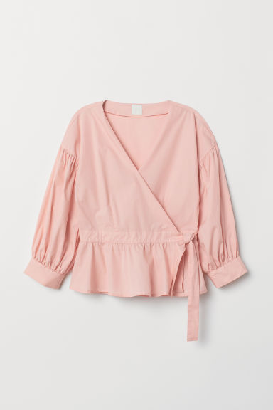 Wrapover blouse - Light pink - Ladies | H&M