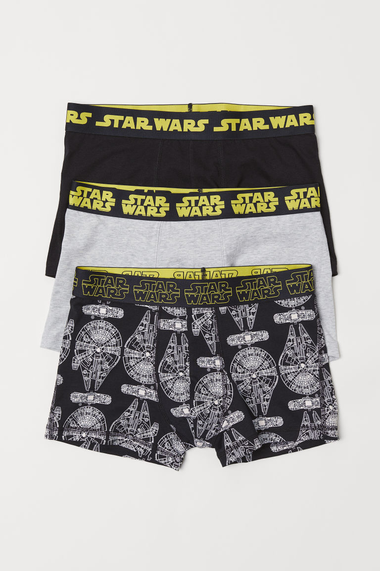 3-pack short trunks - Black/Star Wars - Men | H&M