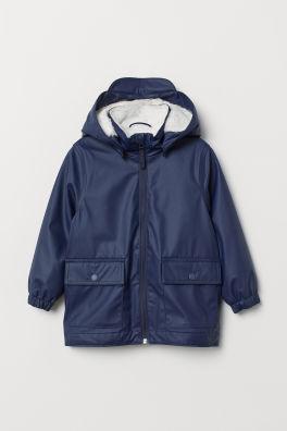 6063ad760342 Pile-lined rain jacket