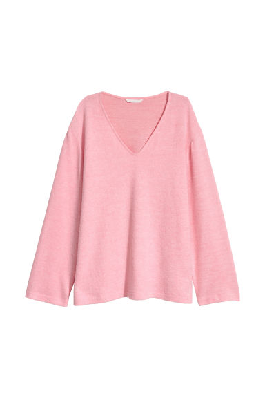 V-neck jumper - Pink -  | H&M CN