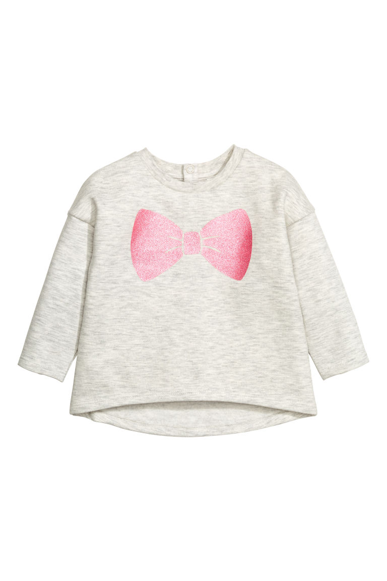 Sweatshirt with a print motif - Light grey - Kids | H&M CN