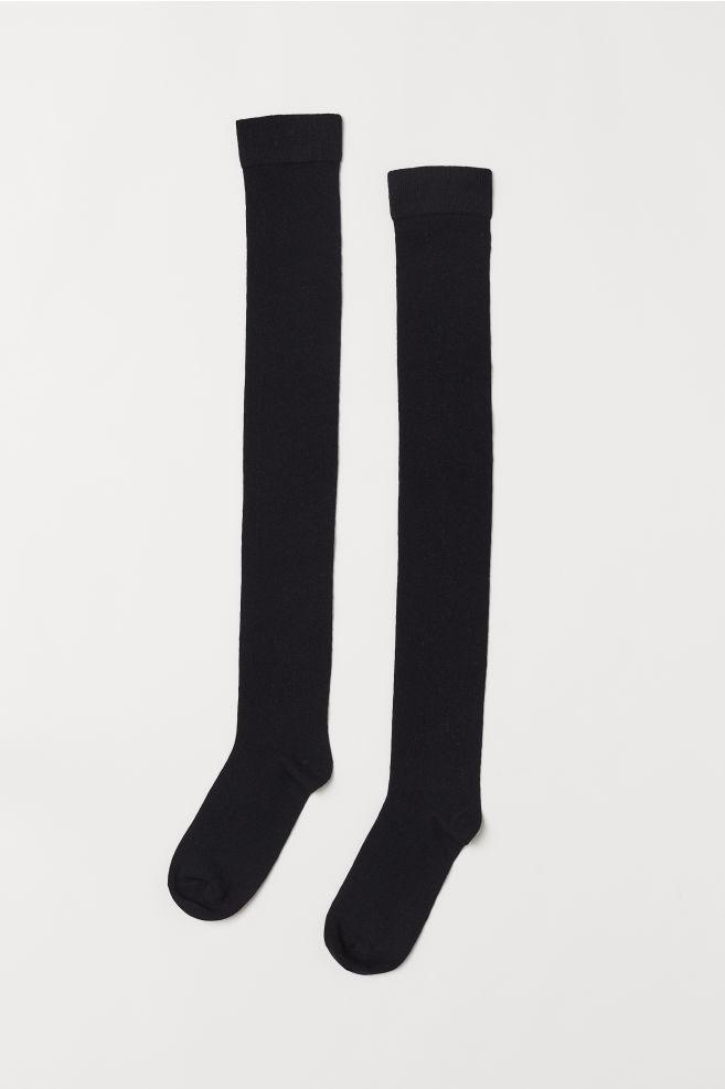 0bbac9d8790 ... Chaussettes hautes - Noir -