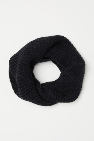 Ribgebreide snood - Zwart - DAMES | H&M BE