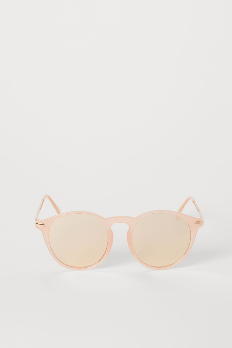 Sunglasses - Powder pink/Rose gold-coloured - Ladies | H&M CN