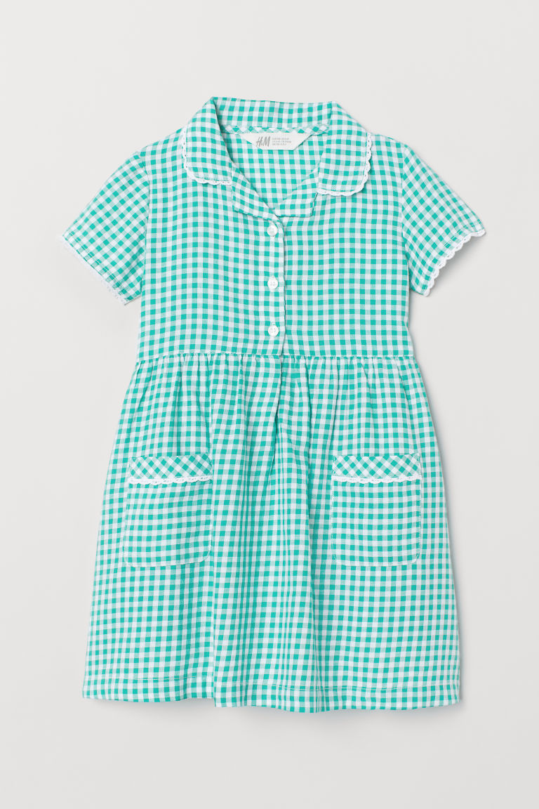 Checked Dress - Green - Kids | H&M US