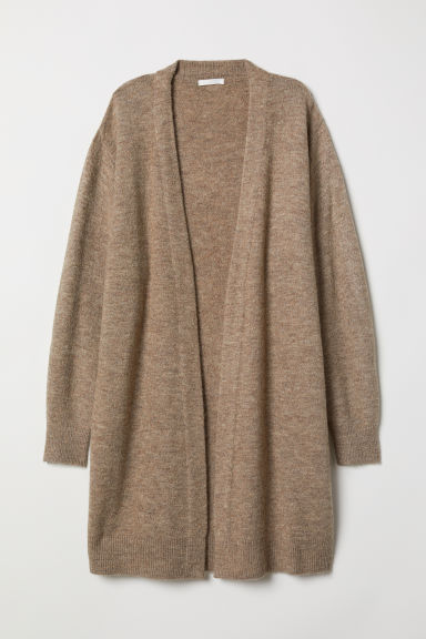 Long Cardigan - Beige melange - Ladies | H&M US