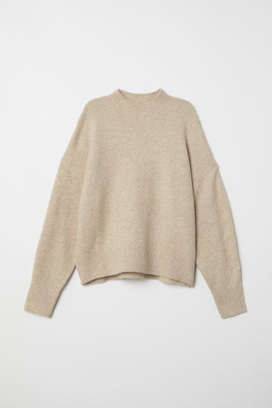 Fine-knit jumper - Light beige marl - Ladies | H&M