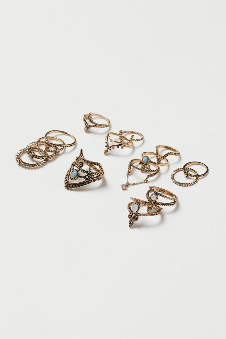 15-pack rings - Gold-coloured - Ladies | H&M IE