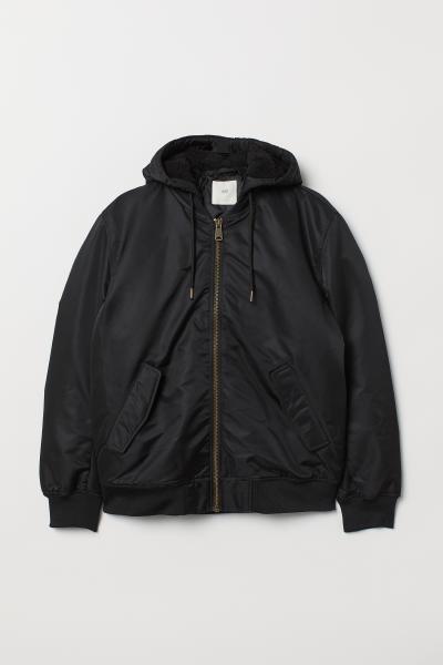 H&M - Padded hooded bomber jacket - 5
