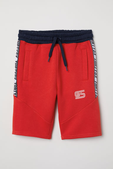 Sweatshirt shorts - Bright red - Kids | H&M