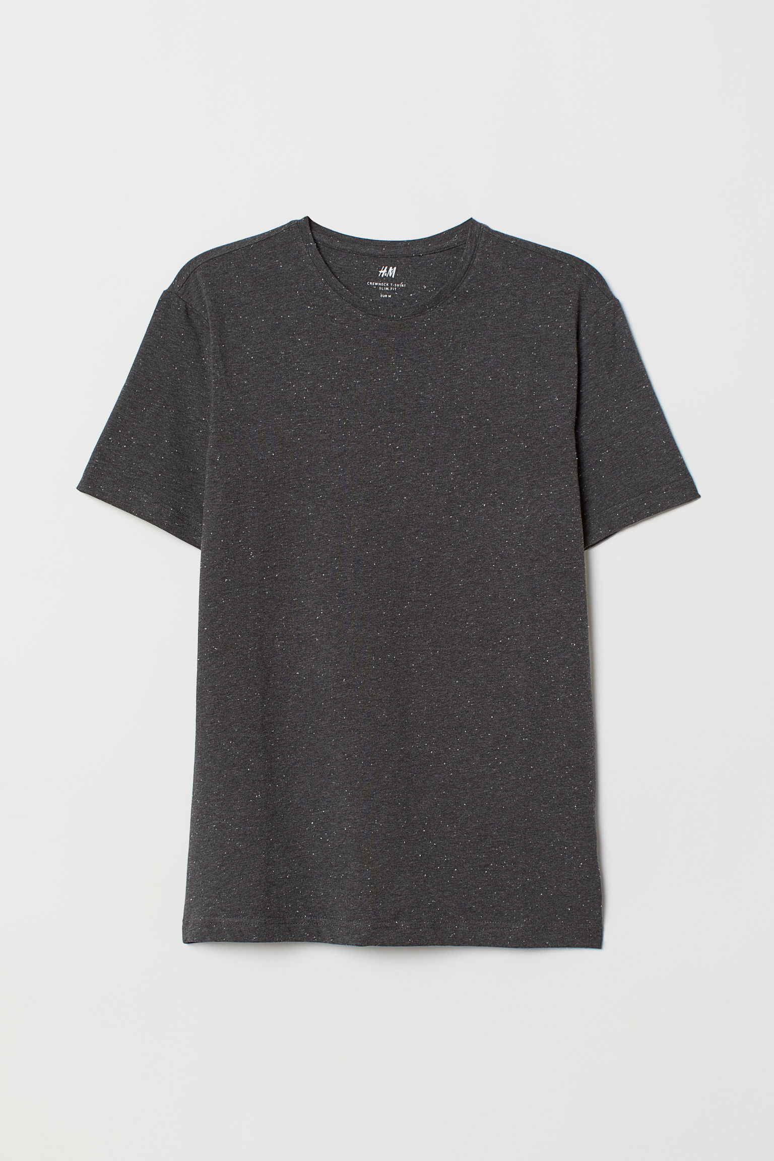5997e8a37 Crew-neck T-shirt Slim fit - Black - Men | H&M US