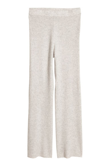 Pantaloni pull-on in cashmere - Grigio chiaro - DONNA | H&M IT