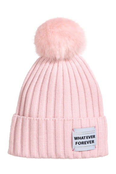 Rib-knit hat - Light pink - Kids | H&M