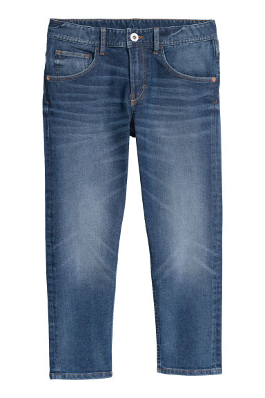Relaxed Tapered Fit Jeans - Dark blue denim - Kids | H&M