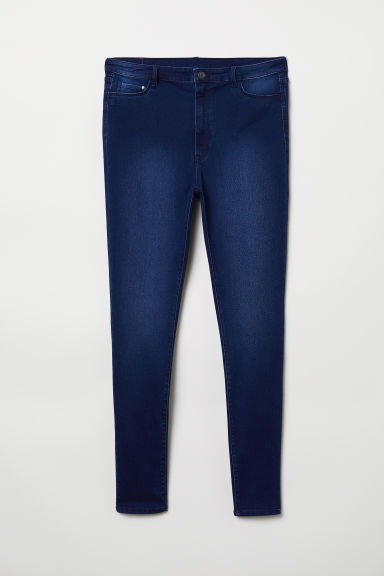 H&M+ High Waist Jeggings - Blu denim - DONNA | H&M CH