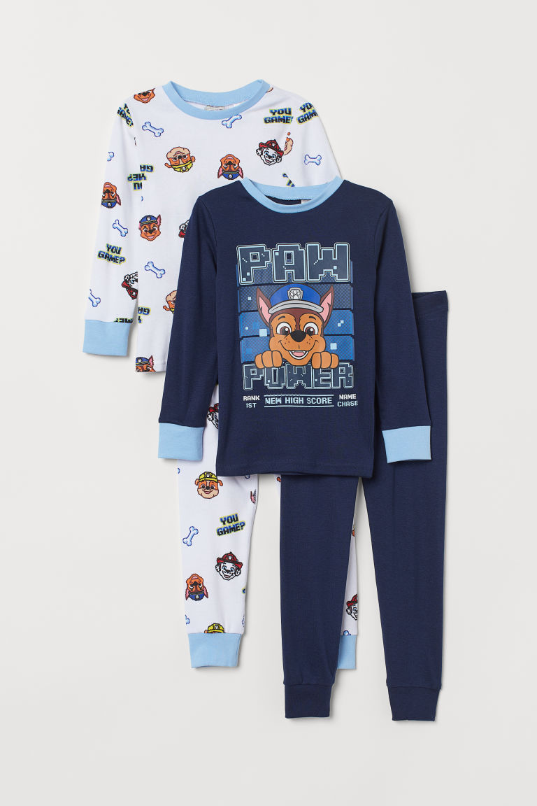 2-pack pyjamas - Dark blue/Paw Patrol - Kids | H&M