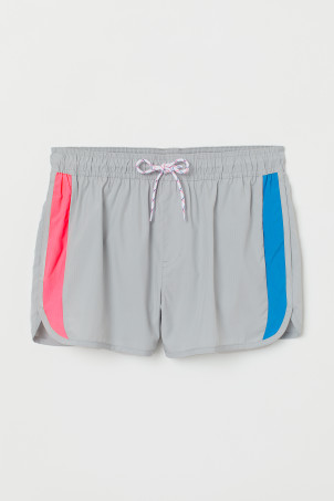 Short Patterned Swim Shorts