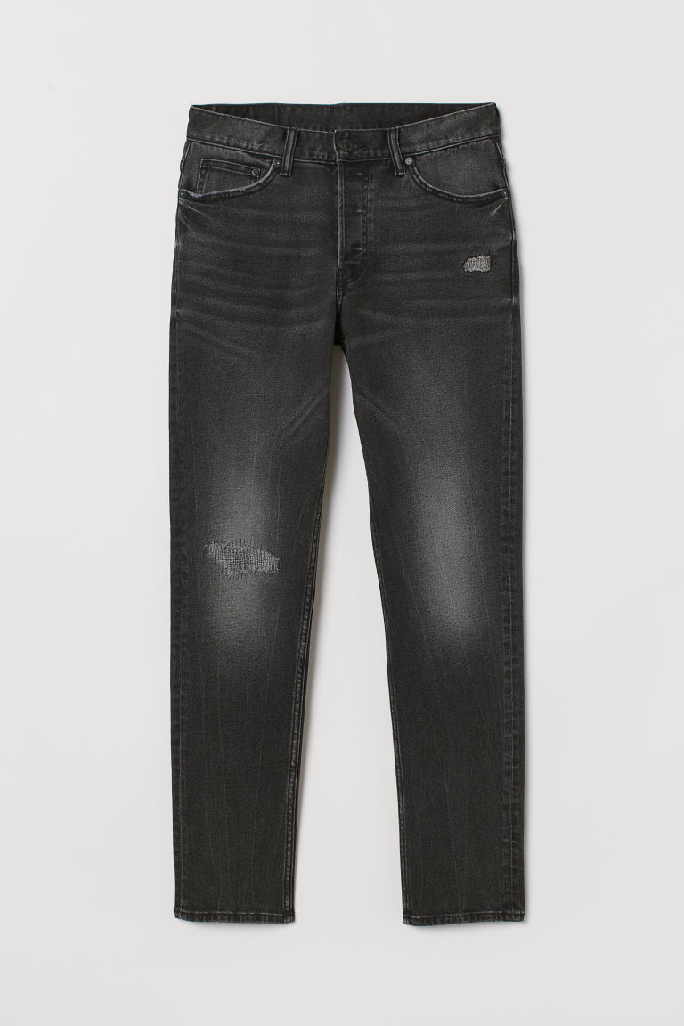 Slim Jeans - Black denim - Men | H&M CA