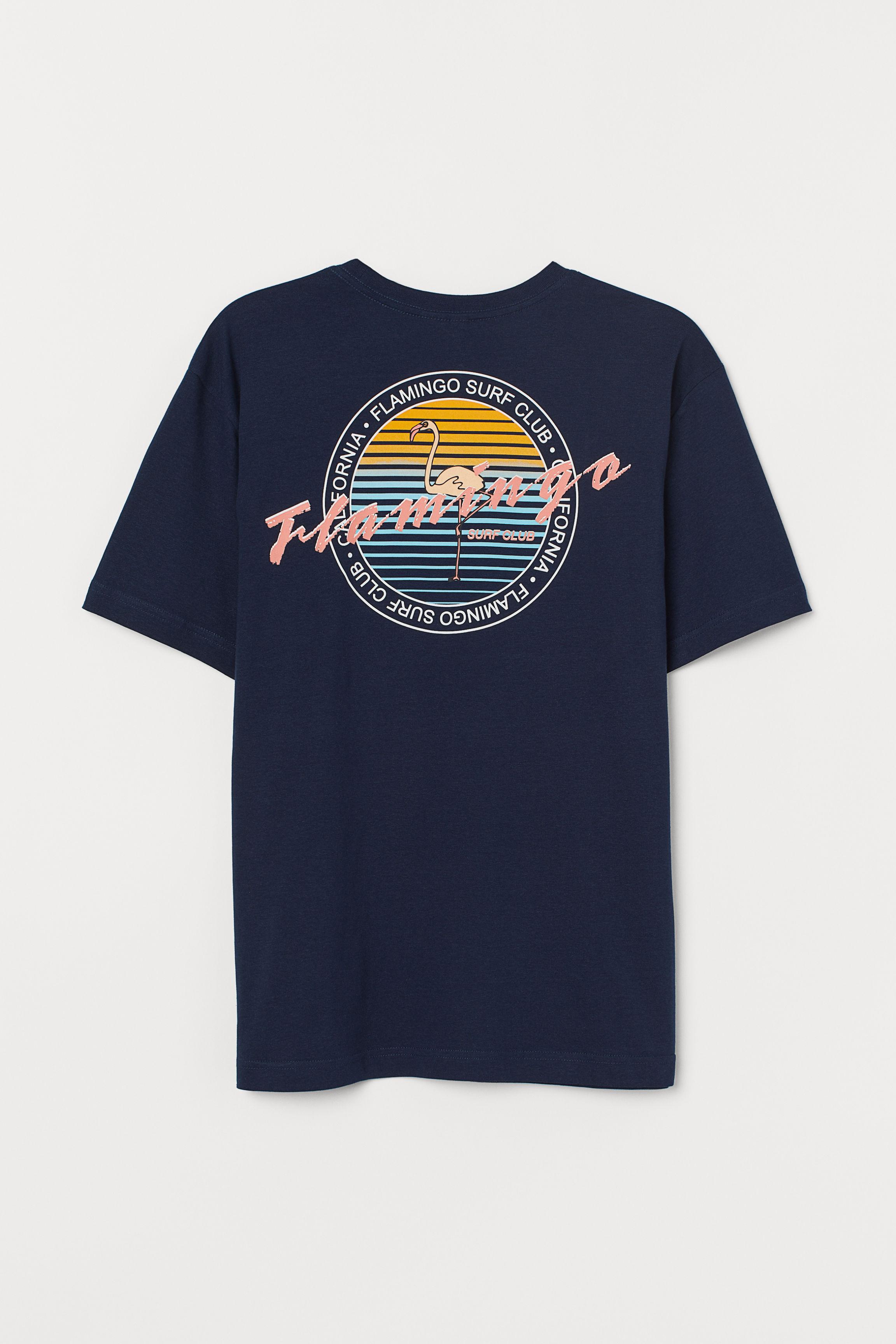 67ca8e7e3 T-shirt with Printed Design - White/Lost in Venice LA - Men   H&M US