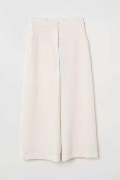 Wide trousers - Cream - Ladies | H&M