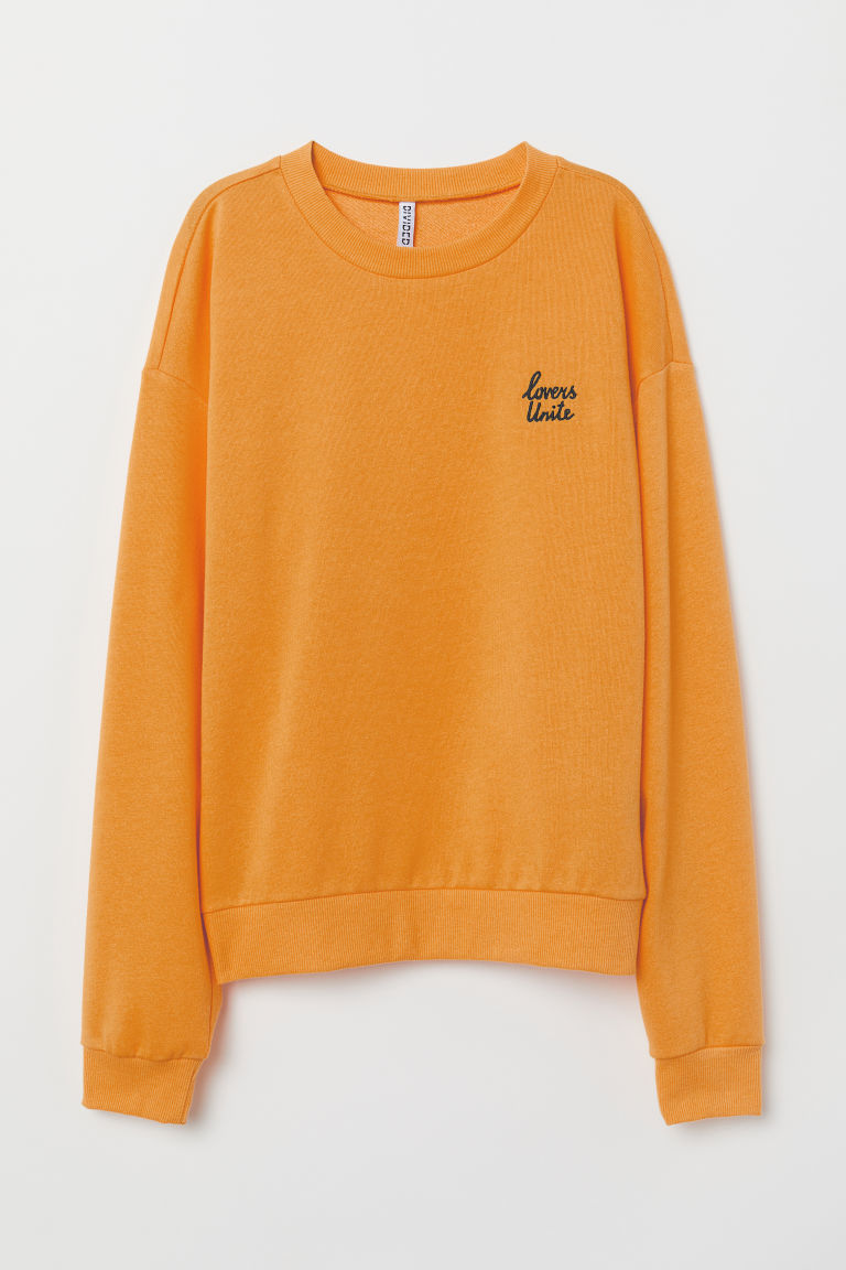 Sweatshirt - Orange/Lovers -  | H&M CN
