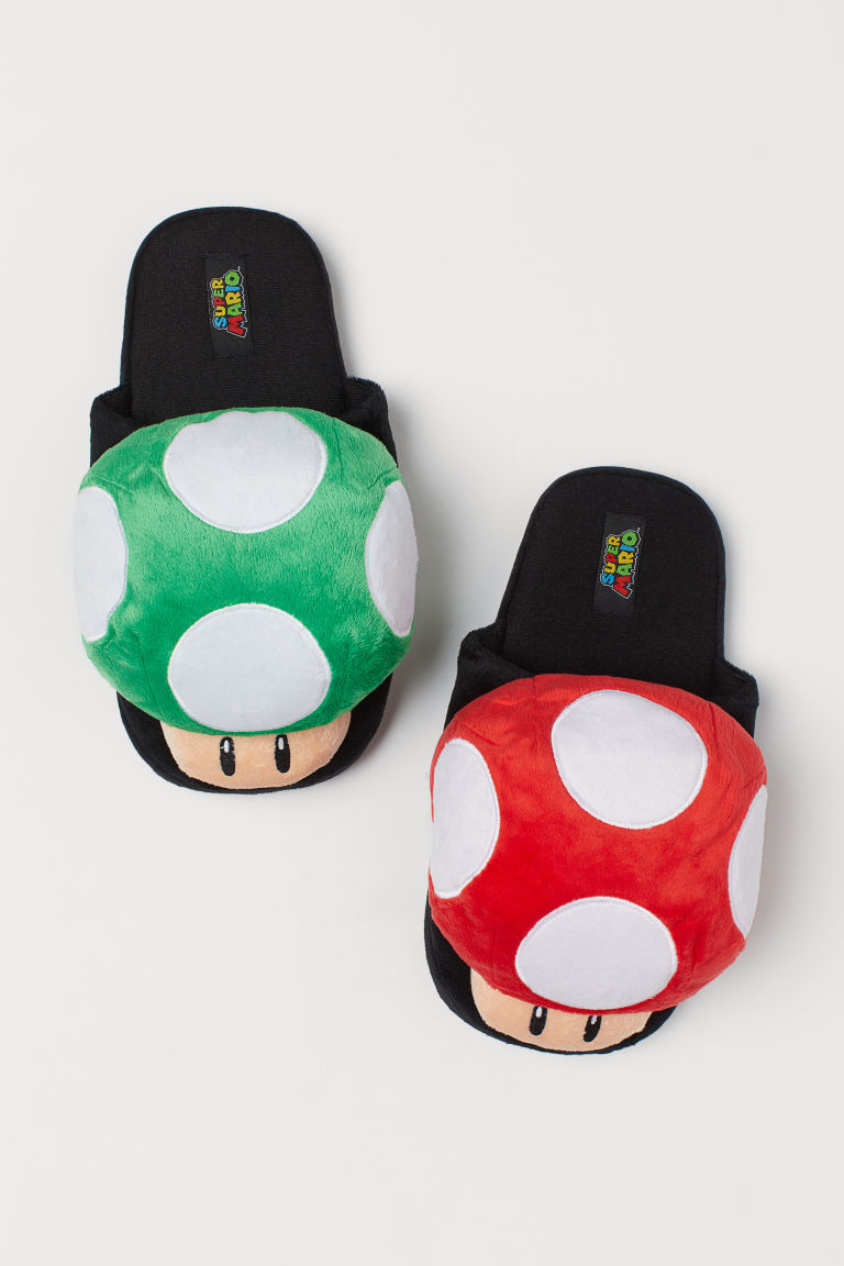 Soft Slippers - Black/Super Mario -  | H&M US