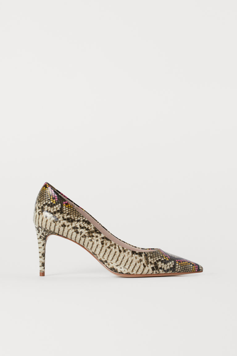 Court shoes - Pink/Snakeskin-patterned - Ladies | H&M GB