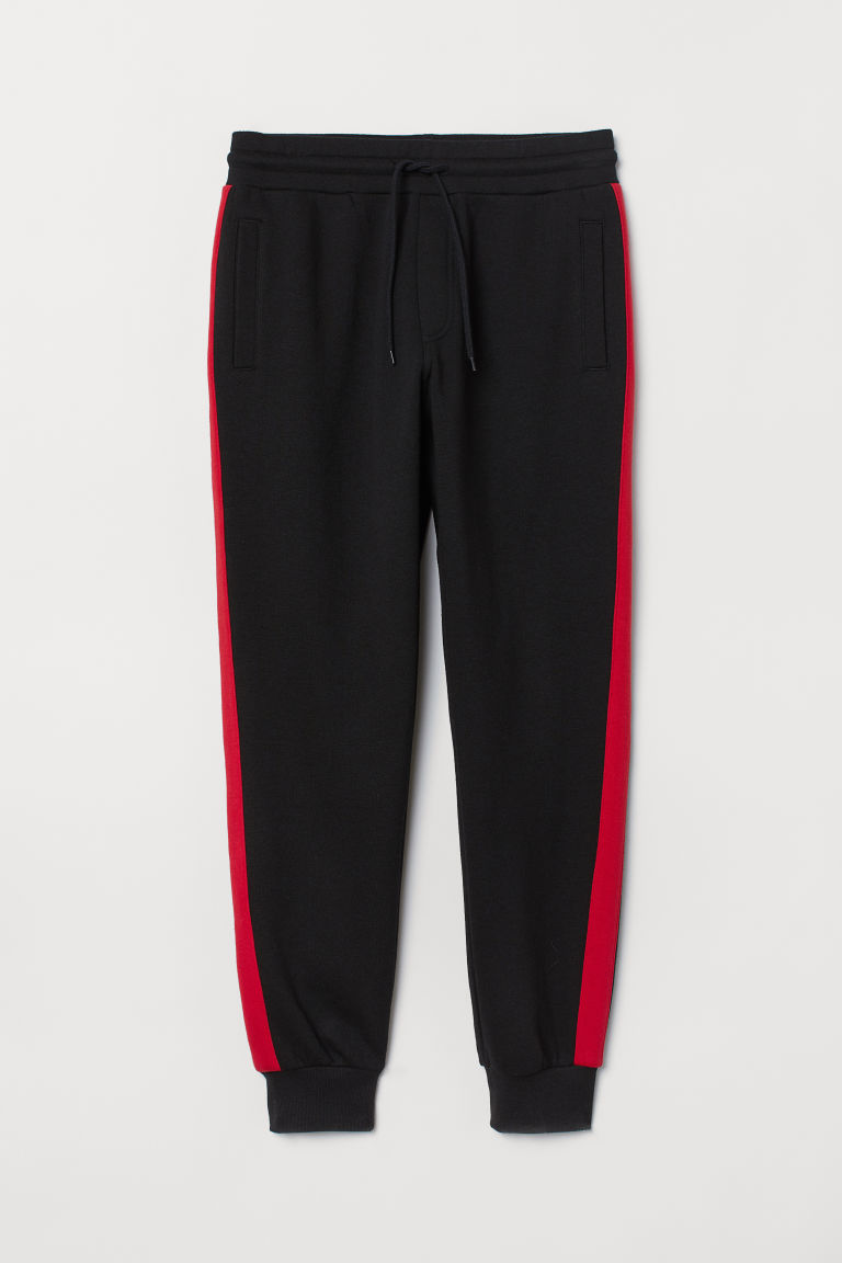 Joggers With Side Stripes Black Red Men H Amp M Us