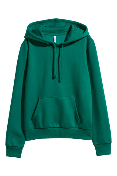 Felpa con cappuccio - Verde scuro -  | H&M IT