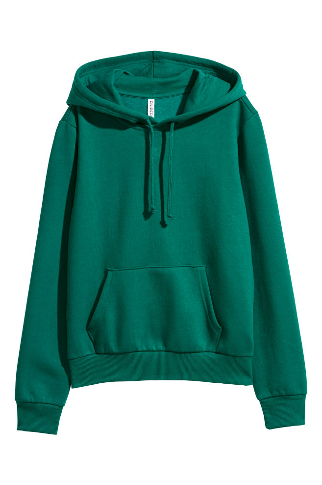e0f921e33 Hooded Sweatshirt - Dark green - Ladies   H&M ...