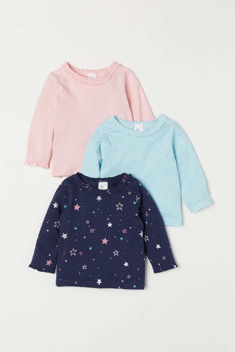 Top in jersey, 3 pz - Blu scuro/stelle - BAMBINO | H&M IT