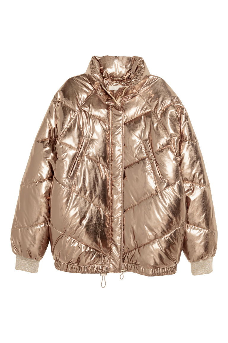 Padded jacket - Gold-coloured - Ladies | H&M GB