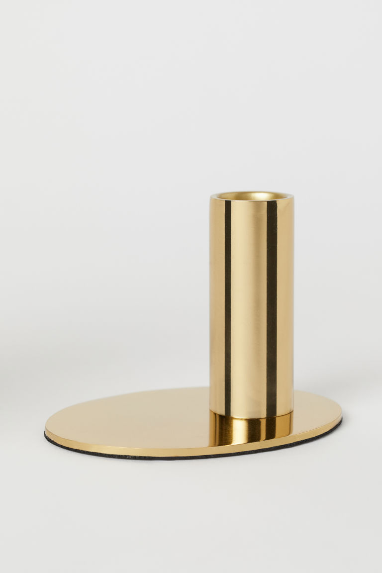 Metal candlestick - Gold-coloured - Home All | H&M GB