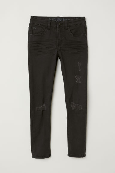 Twill trousers Skinny Fit - Black/Worn - Kids | H&M CN