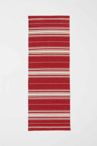 Striped cotton rug - Red - Home All | H&M CN