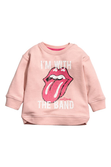 Printed sweatshirt - Powder pink - Kids | H&M CN