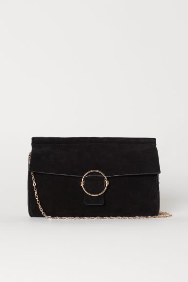 Suede Clutch Bag - Black - Ladies | H&M US