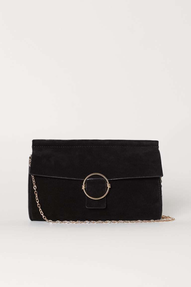 Suede Clutch Bag - Black - Ladies | H&M US 1