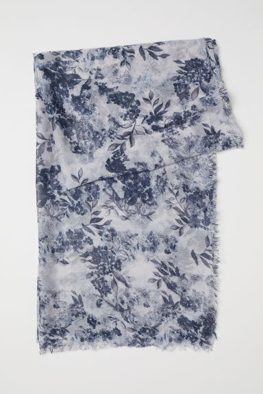 Airy scarf - Blue/Floral - Ladies | H&M