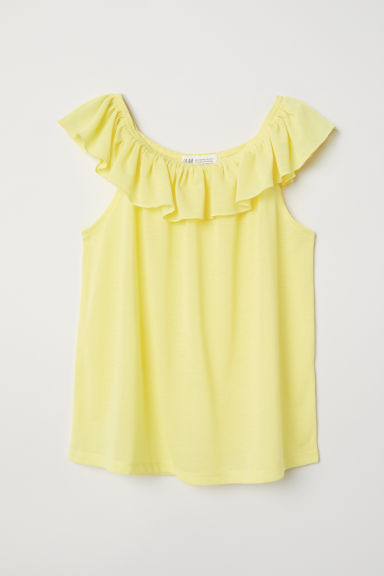 Flounced top - Yellow - Kids | H&M CN