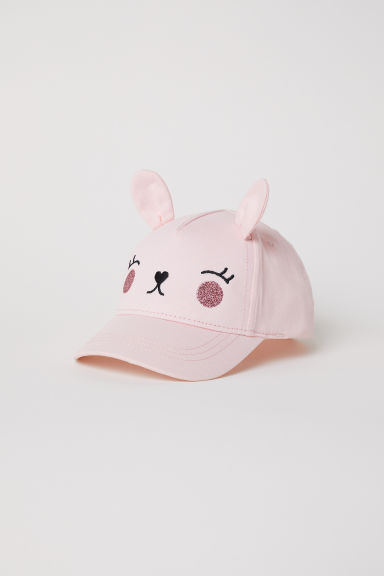 Cap with ears - Light pink -  | H&M CN