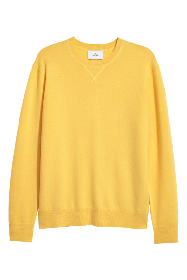 Cashmere jumper - Yellow - Men | H&M