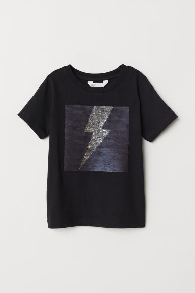 T-shirt with a motif - Black/Lightning - Kids | H&M
