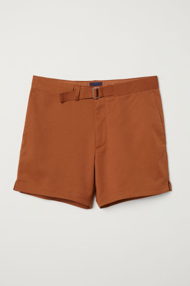 Shorts with a fabric belt - Light brown - Men | H&M CN