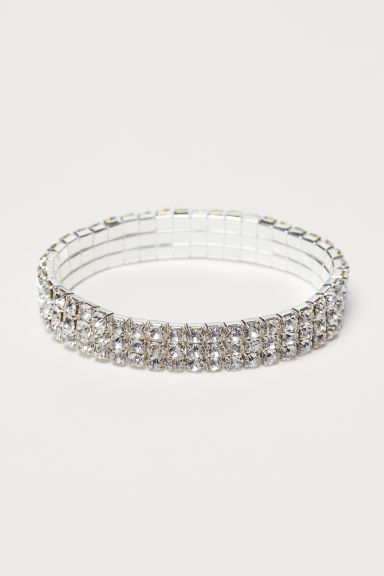 Sparkly stone bracelet - Silver-coloured - Ladies | H&M