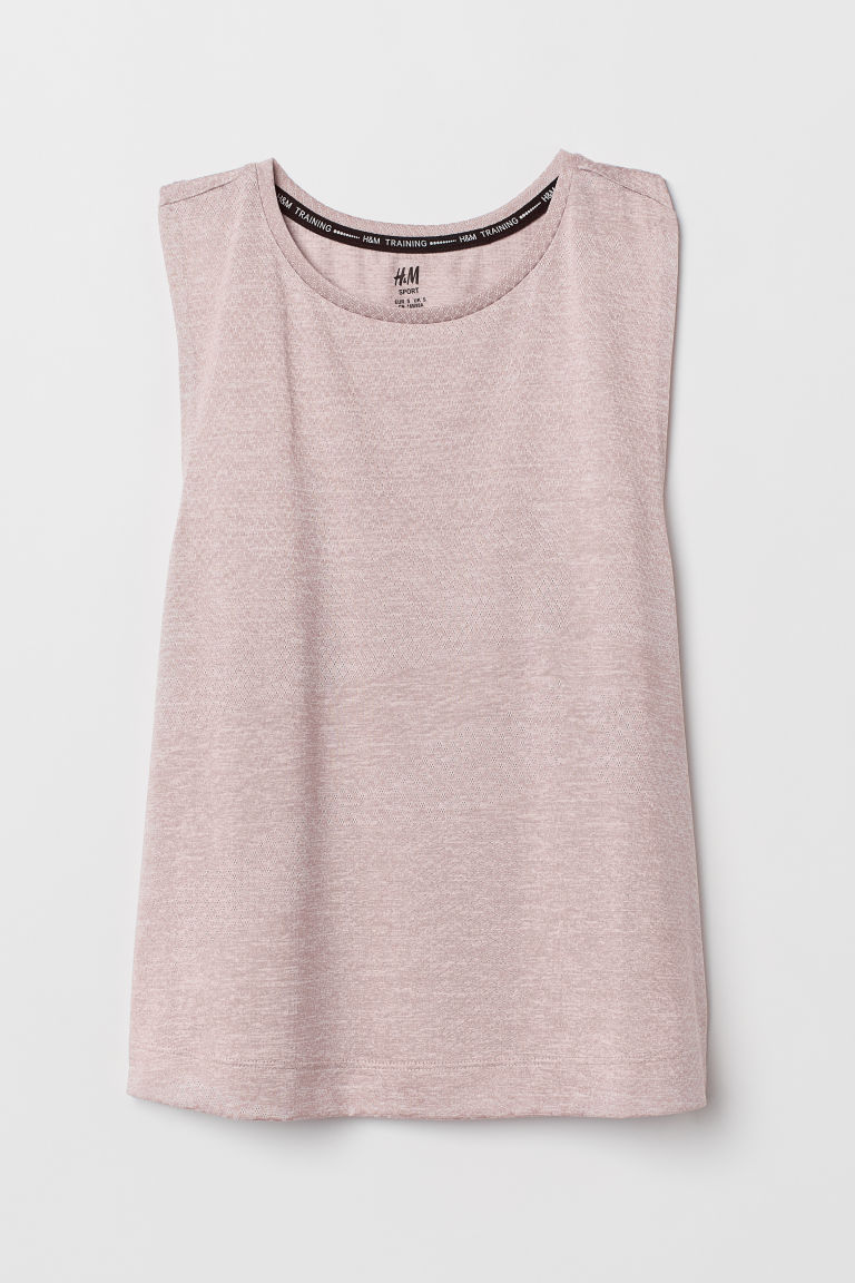 Sports vest top - Pink marl - Ladies | H&M