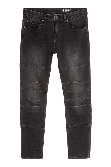Skinny Tapered Jeans - Musta/Washed out - MIEHET | H&M FI
